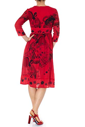 Rouge Robe Vest Femme Longue Clam Desigual 19swvw03 wqgYUn