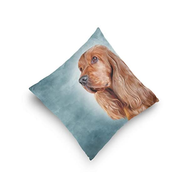 Cooper girl English Cocker Spaniel Portrait Throw Pillow Cover Pillowcase Cotton Cushion Cover 20x20 Inch for Couch Bed Sofa 5