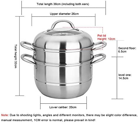 Casserole à vapeur en acier inoxydable à fond composite non recouvert avec couvercle Cuisinière à induction Cuisinière à induction Cuisinière universelle 26 cm