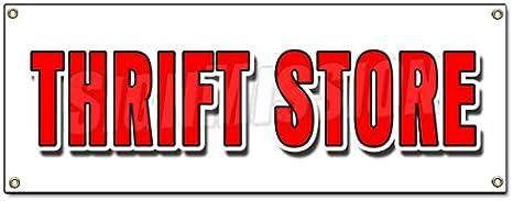 Amazon.com: Tienda de Caridad Banner Sign ropa Muebles Hogar ...