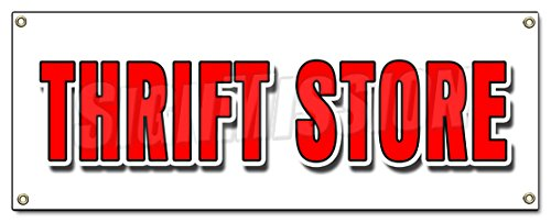 Thrift Store Banner Sign Clothing Furniture Household Clothes Appliance