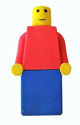 Building Blocks Theme Mini Figure Eraser Party Favor. 24 Pac