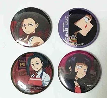 Amazon.com: My Hero Academia Can Badge Botón x4 Momo ...