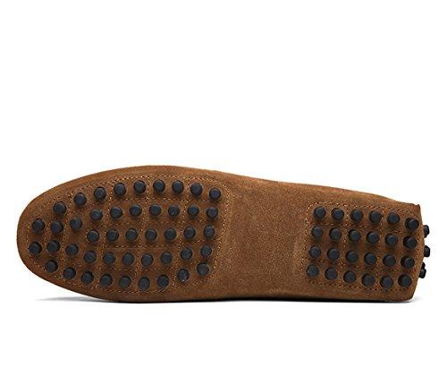 Icegrey Hommes Passant Conduite Chaussures Suède Flâneurs Kaki 40