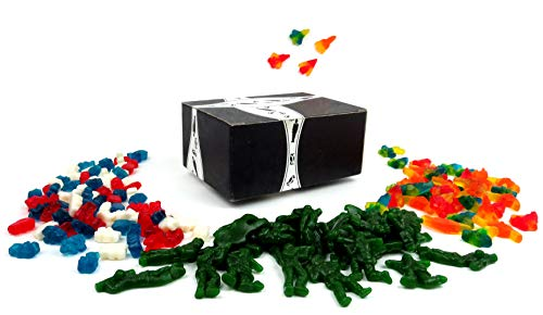 The Right to Bear Arms Albanese Arsenal of Freedom Gummi Variety: One 12 oz Bag Each of Jet Fighters, Freedom Bears, and Freedom Soldiers in a BlackTie Box