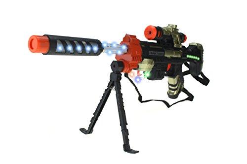 Battle Assault Sniper Rifle Toy Gun w/ Lights, Sounds, Strap, & Bipod