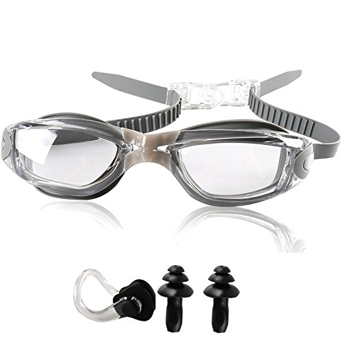 49f9c8e1be8 YINGNEW No Leaking Prescription Swimming Goggles - Unisex Triathlon Swim  Glasses with Free Nose Clip