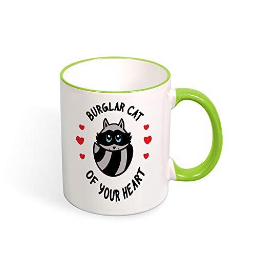 DKISEE Raccoon Color Coffee Mug Mouth And Handle Novelty 11oz Ceramic Mug Cup Birthday Christmas Anniversary Gag Gifts Idea -