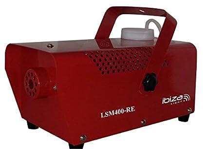 Ibiza LSMLED RE Mini maquina de humo rojo