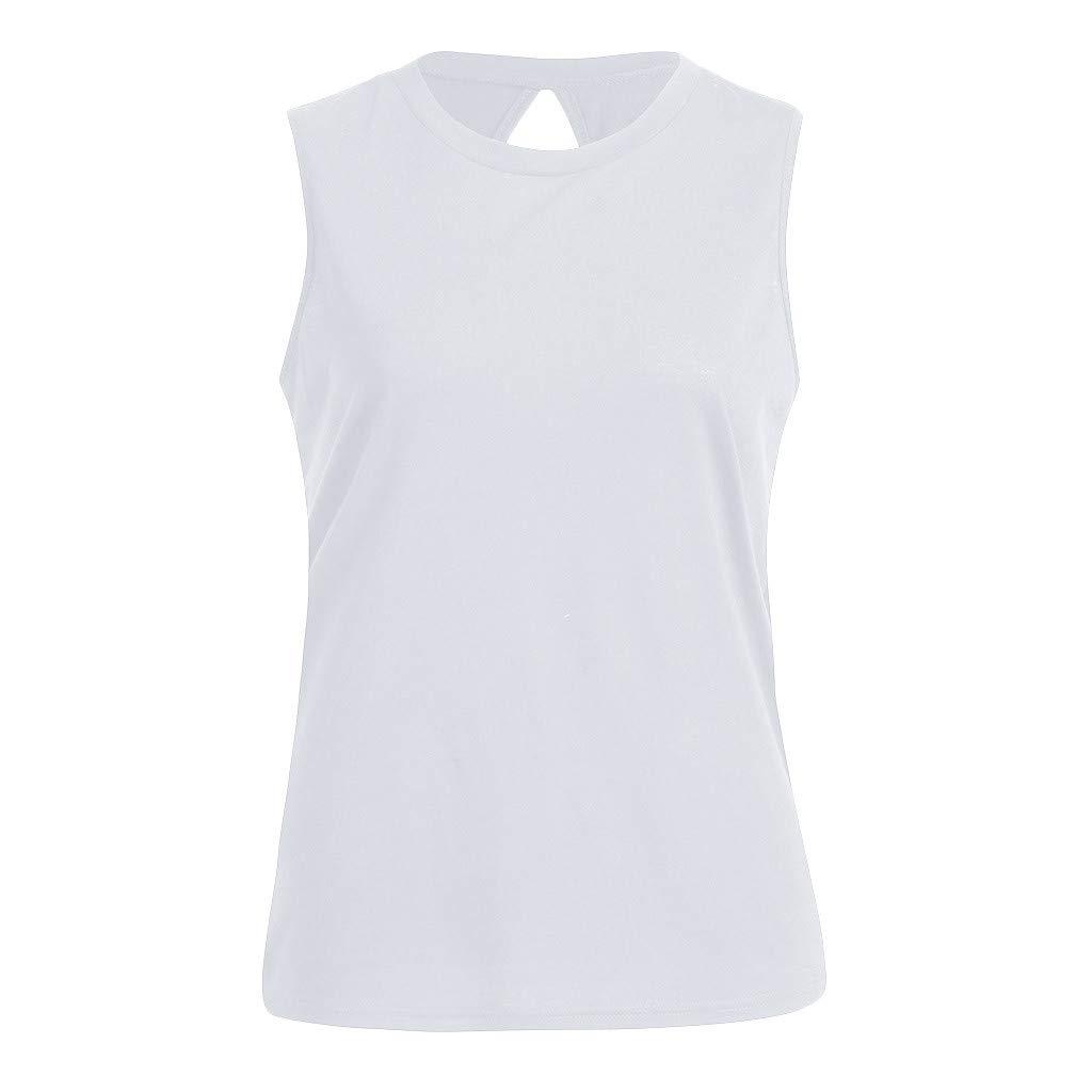 Yoga Sport Workout Muscle Shirt Women Sexy Tank Tops Vest Open Backless Tunic