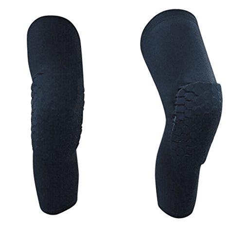 Collision Ball - 1PC Protective Knee Pads Basketball Football Sport Long Sleeve Collision Avoidance Knee Sleeve (Black, M)