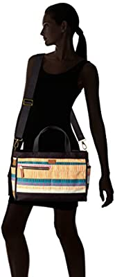 Fossil Passport Tote-Colorful Stripes