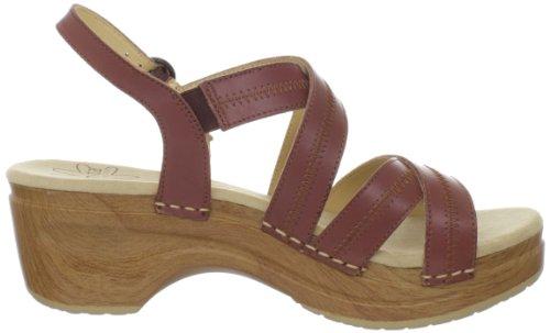 Sanita Darcy Sangle en cuir pour femme plateforme sandales Marron yq48k