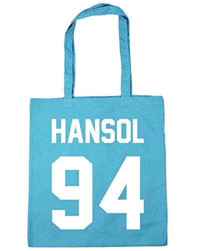 HippoWarehouse Hansol–�?4(impreso en el) bolsa de la compra bolsa de playa negro 42cm x38cm, 10litros azul (Surf Blue)