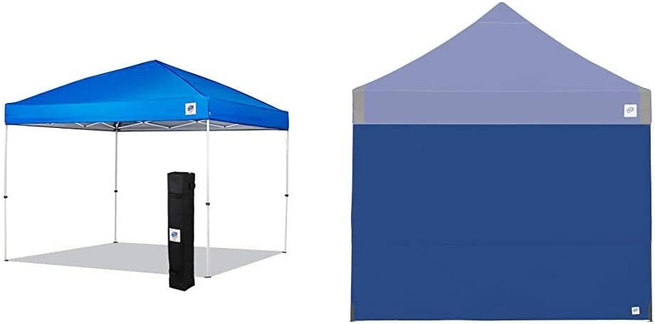 New E-Z UP Envoy Instant Shelter Canopy, 10 by 10', Royal Blue & Recreational Sidewall – Royal Blue - Fits Straight Leg 10' E-Z UP Instant Shelters