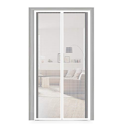 Plastic Door Curtain 40X83, Thermal and Insulation EVA Magnetic Screen Temporary Door Curtain Enjoy Cool Summer & Warm Winter Fit Your Door Frame Size Up to 38x82 Inch (40x83 Inch, Transparent)