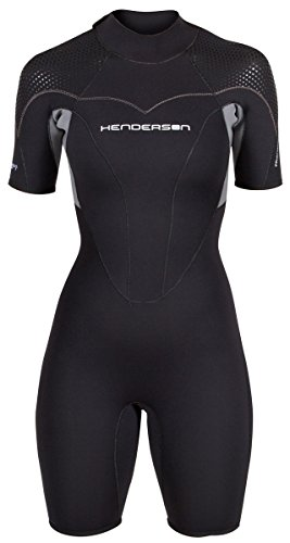 Women's Thermoprene Pro Wetsuit 3mm Back Zip Shorty (Pro Diving Wetsuit)