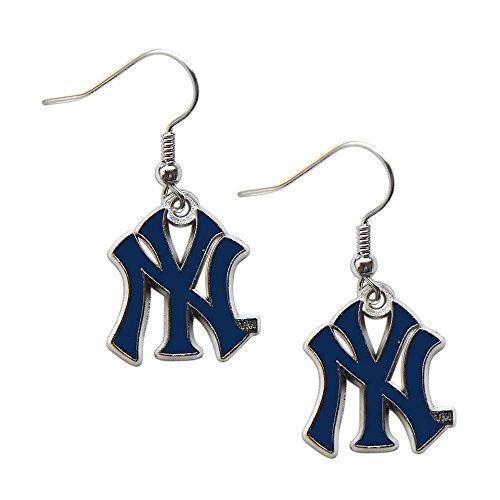 aminco York Yankees Dangle Logo Earring Set Mlb Charm Gift