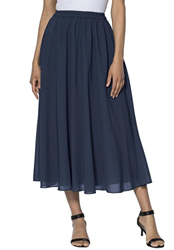 Roamans Women's Plus Size Skirt Separate Navy,16 W