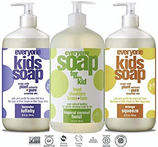 Everyone Soap For Every Kid 3 in 1 Head To Toes Variety Pack (Lavender Lullaby, Orange Squeeze, Tropical Coconut Twist) | 32 Oz, 3 Pack (Best Soap For Kids)