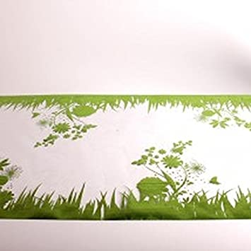 Bac - Chemin de table dessin Jardin vert: Amazon.fr: Cuisine & Maison
