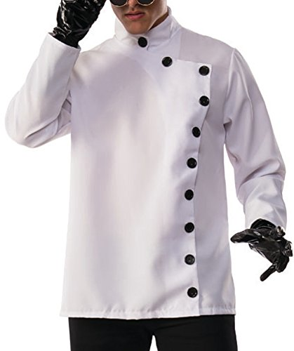 Costume Scientist Crazy (Men's Crazy Evil Mad Scientist Button Up Lab Coat Shirt Costume Medium)