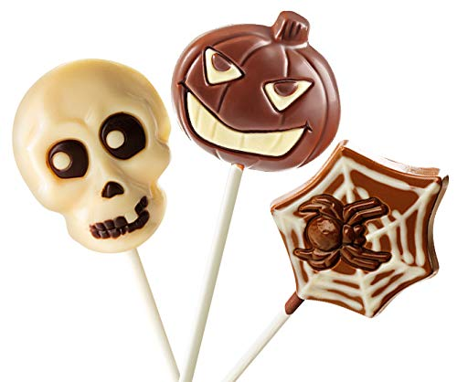 No Whey - Halloween Lollipop Collection (3 Lollipops) - Allergy Friendly and Vegan Chocolate Halloween Candy - Dairy Free, Nut Free, Peanut Free, Soy Free, Gluten Free ()