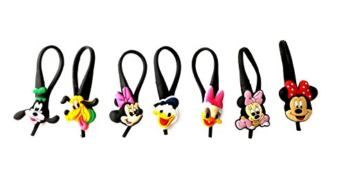 7 pcs Mickey Friends # 1 Soft Zipper Pull Charms for Backpack Bag Pendant Jacket