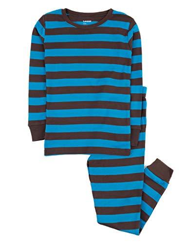 (Leveret Striped 2 Piece Pajama Set 100% Cotton (2 Toddler, Chocolate &)