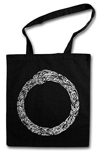 NORSE MIDGARD SNAKE I Hipster Shopping Cotton Bag Borse riutilizzabili per la spesa – Serpente mitologia norrena Walhall Walhalla Ravens Odin Thor Mjölnir Loki Midgard Wikinger Kelten Rune