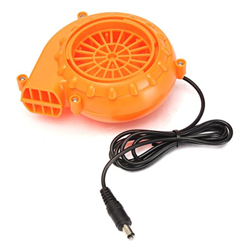 TOOGOO(R) Mini Fan Mini Fan Blower for Mascot Head Inflatable Costume 6V Powered 4xAA Dry Battery Orange ()