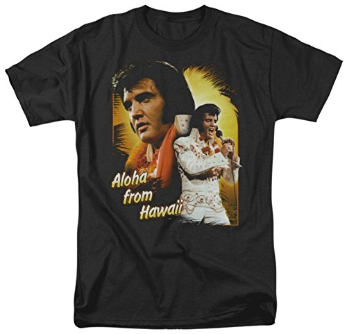 Elvis Black T-shirt Classic - Elvis - Aloha T-Shirt Size XL