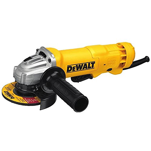 Handle Single Flap - DEWALT DWE402 4-1/2-Inch 11-Amp Paddle Switch Angle Grinder