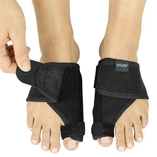 Vive Bunion Splint (Pair) - Big Toe Straightener - Corrector Brace for Hallux Valgus Pad, Joint Pain Relief, Alignment Treatment - Orthopedic Sleeve Foot Wrap Night Time Support for Men ()