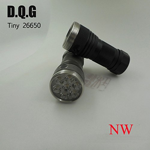 DQG Tiny 26650 3th 7x XP-G2 NW 2500LM 4modes EDC LED Flashlight (Color Grey) by LEEPRA (Image #1)