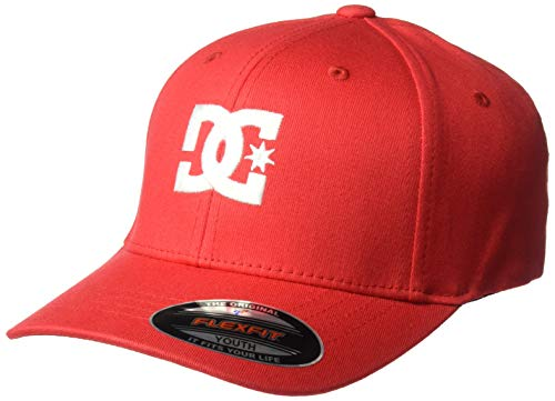 DC Apparel - Kids Boys' Big Cap Star 2 Trucker HAT Youth, Tango red, 1SZ
