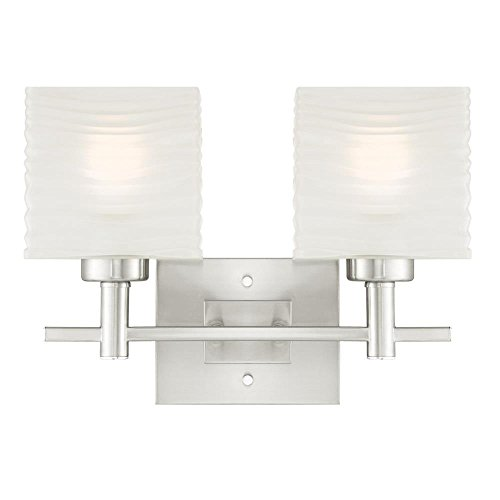 6303900 Alexander Two-Light Indoor Wall Fixture, Brushed Nickel Finish with (Nickel Two Light Sconce)