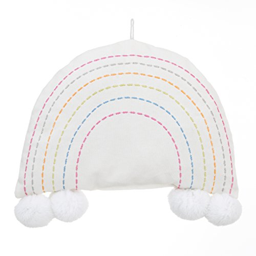 - NoJo Rainbow Soft Shaped Cotton Canvas Wall Decor, Ivory/Blue/Pink/Red