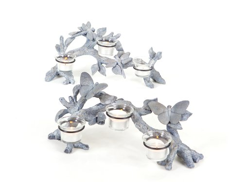 - Melrose Set of 2 Garden Getaway Butterfly and Dragonfly Votive Candle Holders 14
