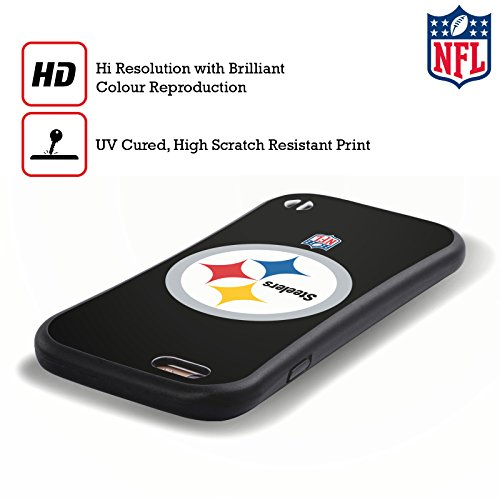 a5ad8657d Official NFL Plain Pittsburgh Steelers Logo Hybrid Case for Apple iPhone 7    iPhone 8