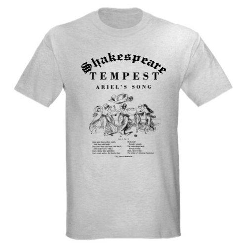 TEMPEST Ariel's Song Uni-Sex T-Shirt (Child Large, Ash Grey)