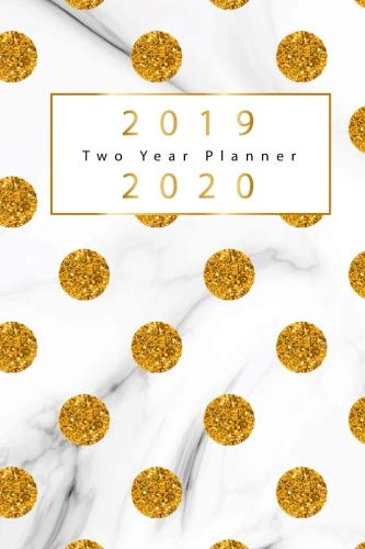 2019 2020 two year planner gold dots cover 2 year calendar 2019