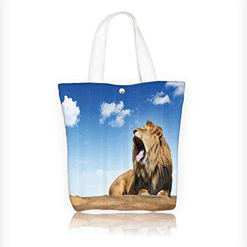 ning Li under the Clear Sky Summertime Sunny Dangerous African Animals Design Your Own Party Favor Pack Tote Canvas Bags by Big Mo's Toys W11xH11xD3 INCH ()