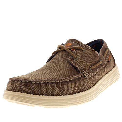 419a0be6d62c5 Skechers USA Men's Status Melec Boat Shoe,Light Brown,10 M US - Buy Online  in Oman. | Apparel Products in Oman - See Prices, Reviews and Free Delivery  in ...