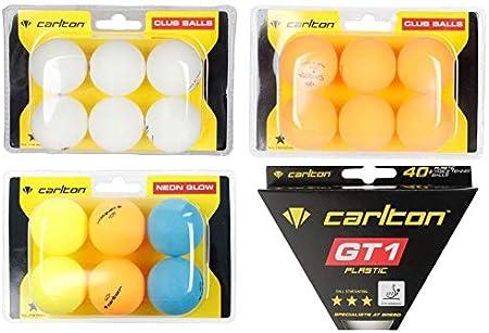 Desconocido Pelotas de Tenis de Mesa para Exteriores, 6 Pelotas de Ping Pong, Resistentes al Moho, Profesionales, Resistentes a la Intemperie, Resistentes al Viento, Color Blanco, Naranja, neón