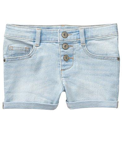 Crazy 8 Little Girls' 5-Pocket Basic Denim Short, Light Wash Button Fly, 10 - Wash Denim Button