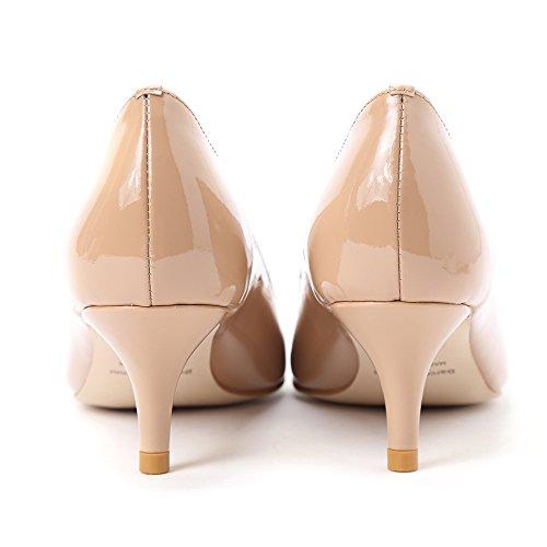 Chaussures Verni Pointus Talons Escarpins Nude Vernis Moyen Talon Sexy Bureau De Petit Elegante Gianni Femme Soiree Cuir Darco Mariage qRXnEX