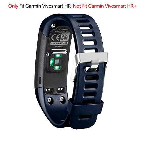Band for Garmin Vivosmart HR, Soft Adjustable Silicone Replacement Wristband Sport Watch Band Accessory for Garmin Vivosmart HR (No Tracker, for Garmin Vivosmart HR ()