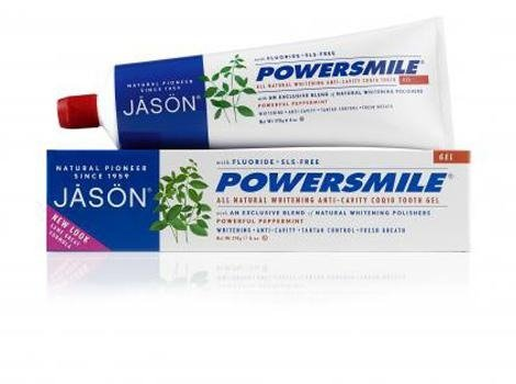 (JASON Powersmile Anti-Cavity & Whitening Gel, Powerful Peppermint, 6 Ounce Tube)
