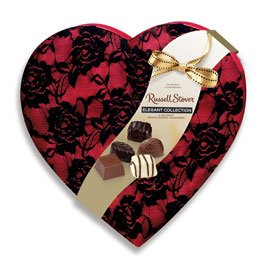 te Reserve Secret Lace Heart, 8 oz. assortment. (Cream Heart Shaped Gift Box)